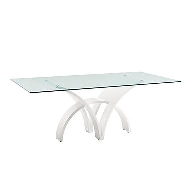Casabianca Furniture Manhattan High Gloss White Lacquer Dining Table (Cb-060)