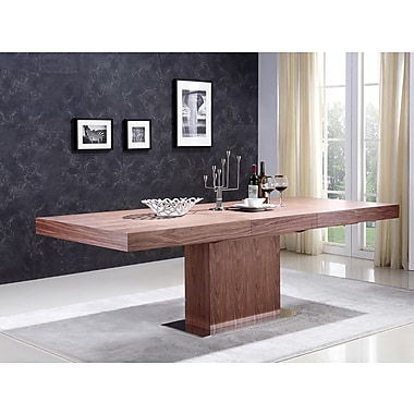 Casabianca Furniture Ponte Walnut Veneer Extendable Dining Table (Tc-0067-Wal)