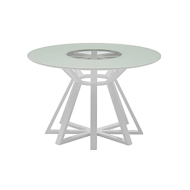 Casabianca Furniture Star High Gloss White Lacquer Dining Table (Cb-3476)