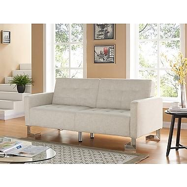 Casabianca Furniture Spezia Fabric Sofa Bed, Beige (Tc-5518-Bg)