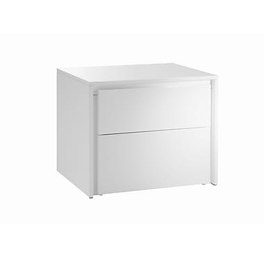 Casabianca Furniture Zen High Gloss Lacquer Nightstand and End Table, White (Cb-1104-N-Wh)