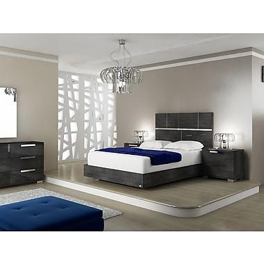 Casabianca Furniture Milo Grey Birch Lacquer Bed