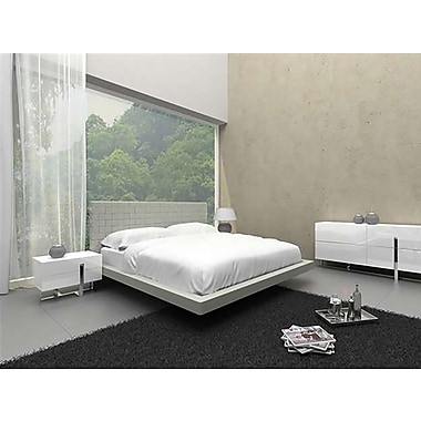 Casabianca Furniture Zack Light Grey Eco-Leather Bed