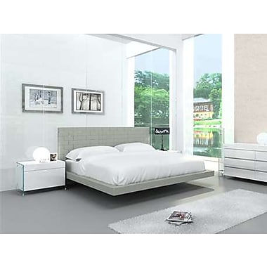Casabianca Furniture Zack Light Grey Eco-Leather Bed, King Size (Cb-C1301-Kg)