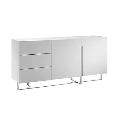 Casabianca Furniture Collins High Gloss White Lacquer Dresser (Cb-1302-D)