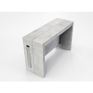 Casabianca Furniture Elasto Grey Concrete Extendable Console and Dining Table (Tc-542B-Gr)