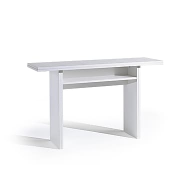 Casabianca Furniture Ritz Extendable Console and Dining Table, White Wood Grain (Tc-530-Wh)