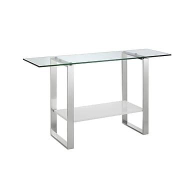 Casabianca Furniture Clarity High Gloss White Lacquer Console Table (Cb-3441-W)