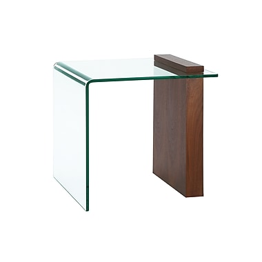 Casabianca Furniture Buono Clear Glass End Table