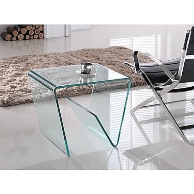 Casabianca Furniture Capri Clear End Table (Cb-099E)