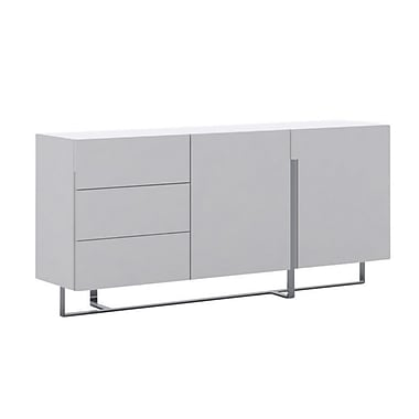 Casabianca Furniture Collins High Gloss White Lacquer Buffet (Cb-1302B)