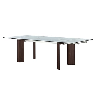 Casabianca Furniture Torino Tempered Glass Extendable Dining Table