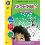 Classroom Complete Press Textbook Geometry Task & Drill Sheets, Grade 3-5 (CC3308)