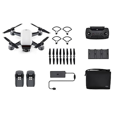 DJI Spark Quadcopter Selfie Drone Fly More Combo, Alpine White (CP.PT.000899)