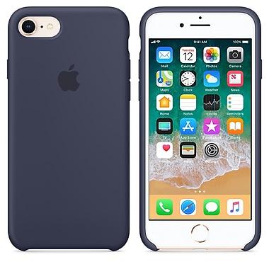 Apple - Étui en silicone pour iPhone 7/8, bleu minuit (MQGM2ZM/A)
