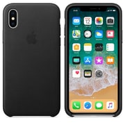 Apple Leather Case For Use With iPhone X, Black (MQTD2ZM/A)