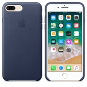 345f48c687 Apple Leather Case For Use With iPhone 7 Plus/8 Plus, Midnight Blue (
