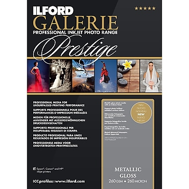 ILFORD Galerie – Papier Prestige métallique glacé, 8,5 x 11, paq./25 (IG2003181)