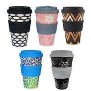 Gone Shopping Organic Bamboo Fibre Coffee Cups, 5/Pack