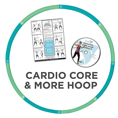 Empower Cardio Core And More Hoop with DVD, Blue/Green (MP-3696R)