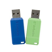 Verbatim 32GB USB 2.0 Flash Drive, 2pk Blue and Green (99814)