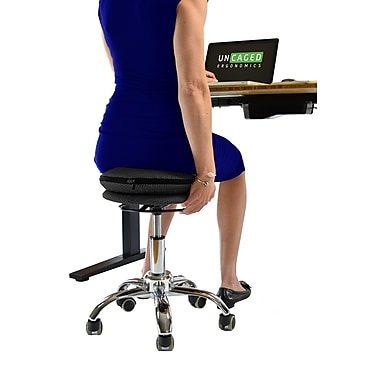 Uncaged Ergonomics WOBBLE STOOL AIR (WSA-B) Rolling Adjustable Height, Sitting Balance Chair for Office, Black