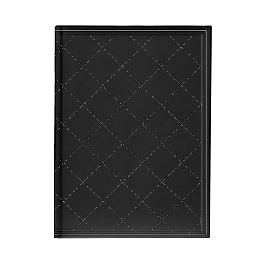 Pierre Belvedere Large Journal, Quilted, Black, 7
