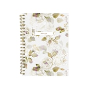 "Pierre Belvedere Medium Notebook, Beige Flowers, Wirebound, 6"" X 8.25"" (7711480)"