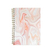"Pierre Belvedere Medium Notebook, Wirebound, 6"" X 8.25"", Orange Marble (7711590)"