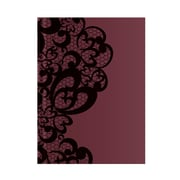 "Pierre Belvedere Large Notebook, Lace Burgundy, 7"" X 9.5"" (7710690)"