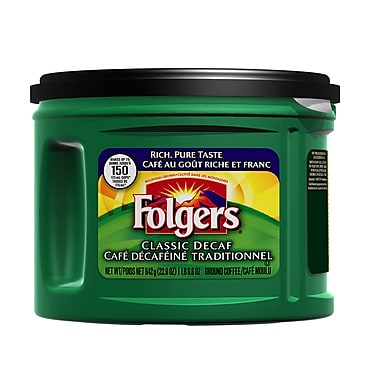 Folgers Ground Coffee, Classic Decaffeinated, 642g