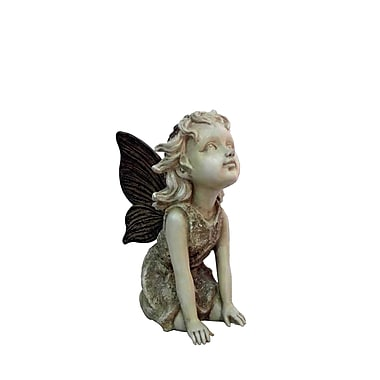 Hi-Line Gift Ltd. 77791WS-B, Fairy Kneeling and Looking Up Statue