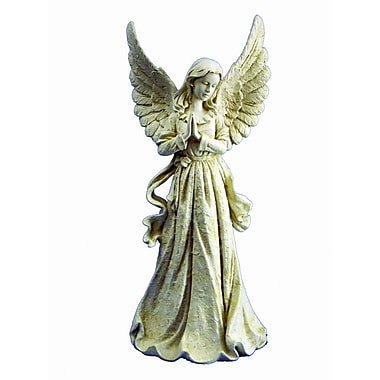 Hi-Line Gift Ltd. 77841WT, Standing Angel with Wings Up Statue
