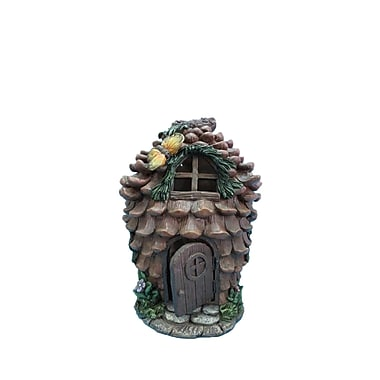 Hi-Line Gift Ltd. 72042-12, Fairy Garden Pinecone House with Butterfly