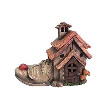 Hi-Line Gift Ltd. 72042-22, Polyresin Shoe House