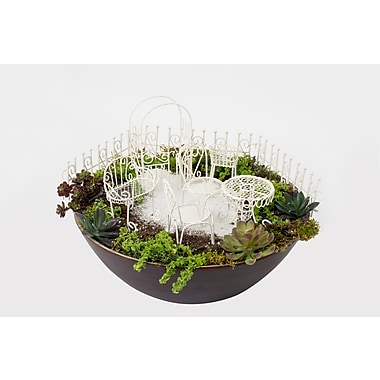 Hi-Line Gift Ltd. 72200-01-WT, Fairy 10 Piece Garden Furniture Set