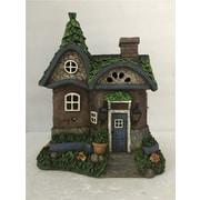 Hi-Line Gift Ltd. 72042-27, Fairy Garden Cottage with Solar LED Lights Statue