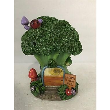 Hi-Line Gift Ltd. 72042-34, Fairy Garden Broccoli House with Lights Statue