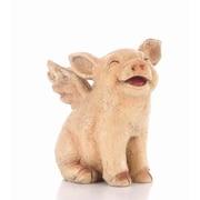 Hi-Line Gift Ltd. 75617-B, Walking Pig with Wings Statue