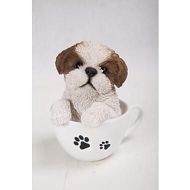 Hi-Line Gift Ltd. 87706-C, Teacup Shih Tzu Puppy Statue