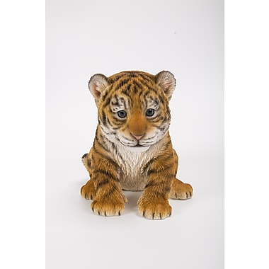 Hi-Line Gift Ltd. 87709-B, Sitting Tiger Cub Statue