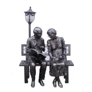 Hi-Line Gift Ltd. 80469-61-S, Old Couple Street Lamp Statue