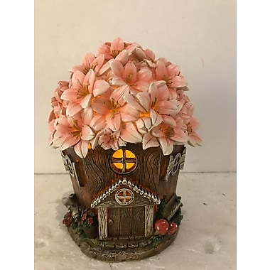Hi-Line Gift Ltd. 72042-41, House with Floral Roof Fairy Garden