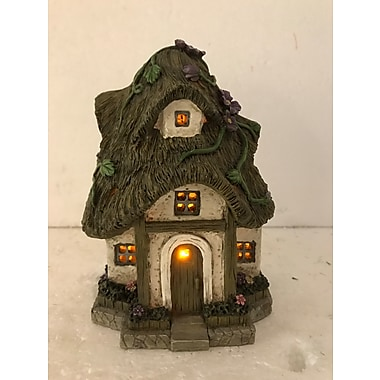 Hi-Line Gift Ltd. 72042-44, Cottage with Thatched Roof Fairy Garden