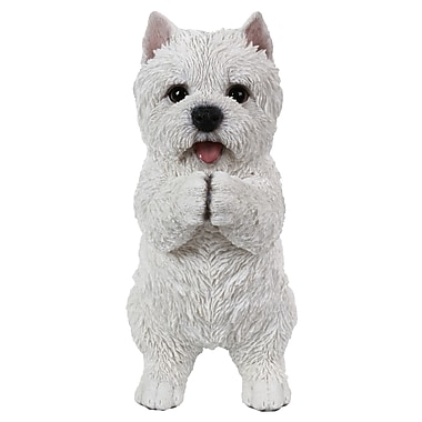 Hi-Line Gift Ltd. 87703-C, Playing Westie Statue