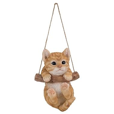 Hi-Line Gift Ltd. 87704-G, Hanging Tabby Kitten Statue