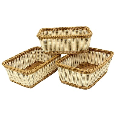 Cathay Importers 2-Tone Resin Rectangle Basket