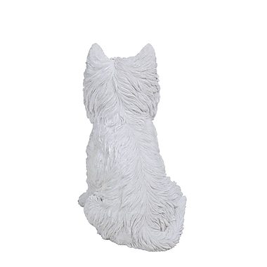 Hi-Line Gift Ltd. 87744, Sitting White Terrier Dog Statue