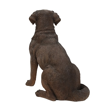 Hi-Line Gift Ltd. 87985-BR, Sitting Brown Labrador Retriever Dog Statue
