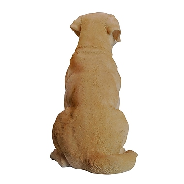 Hi-Line Gift Ltd. 87985-YL, Yellow Sitting Labrador Retriever Dog Statue